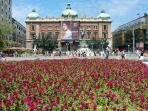 Apartment neighborhood in the spring time - Republic Square