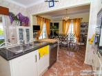 Open-plan Kitchen/Dining Area, comprehensively equipped for eight
