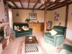 Lounge,  seating for 6, flat screen TV,dec,for english TV, home cinema system, log burner, radiator