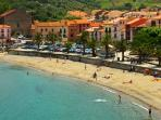 one of the beaches in collioure