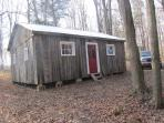 Beaver Lodge cabin is our largest one and overlooks the river and beaver dam.Cost $100/night