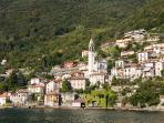 A view on the town of Nesso from the Como Lake