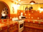 Mexican style kitchen with local Dolores Hidalgo tile