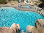 Zion Ponderosa Pool. Zip line, horseback rides, atvs, spa, food, all located next to cabin.