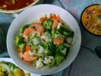 Veggie shrimp stir fry