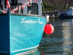 Enjoy the colourful boats at Pleasant Bay Harbour
