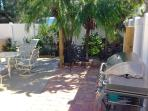 Picnic area with grill is shared with only 3 other villas.