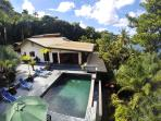 Enjoy privacy with the lush tropical nature all around...