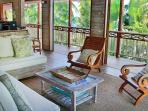 The villa has an open concept, meaning cool breezes and wonderful views from all around...