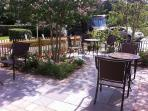 Guest patio in front of DuPont Place