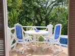 And a nice outdoor patio set for meals in the sunshine...