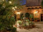 Courtyard with fountain welcomes guests