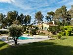 Garden, olive tree and heated pool of Agarrus Aix