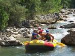 Abruzzo Rafting passing by on the Aventino river.
