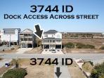 Dock located behind 3745 Island Drive