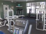 Gym with weights and Cardio equipment as well