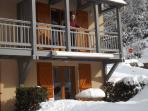 La terrasse recouverte par la neige /02/2015