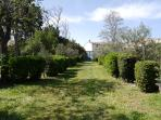 large and spacious private walled garden