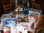 Cards, maps and childrens toys are available in the guest lounge.