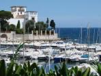 Villa Grecque and the Port des Fourmis - beautiful old port and well worth a visit!