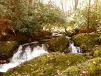 Waterfall at Rushing Waters cabin