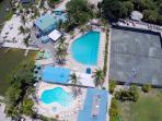 Your rental comes with membership to the Club with 2 heated pools, hot tub, tennis, & playground