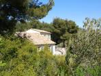 la villa au milieu ded oliviers