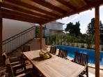 Terrace, outdoor furniture, Villa Liza, Hvar, Island Hvar
