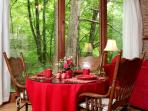 Enjoy view of nature while dining