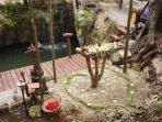 Altar para Boda Maya junto al Cenote