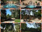 pool, heated spa, childrens playground, basketball court,