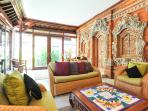 WONDERFUL BALINESE TRADITIONAL STONE WORK IN VILLA LEGONG, CENTRAL SANUR VILLA, MINUTES TO THE BEACH