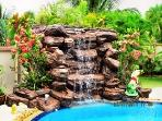 12 Foot Waterfall into Swimming pool