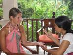 have a palmreading or healing massage