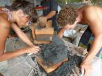 workshops like making a statue from volcanic sand