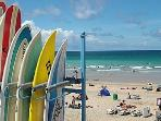 FISTRAL BEACH NEARBY  --  the surfing capital !! -  World surfing competitions take place her