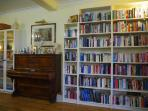 Library and Upright Piano