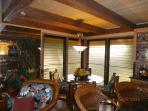 Glass louvers and over-head ceiling fans provide ample ventilation throughout the year.