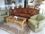 living room area w/queen size premium sofabed