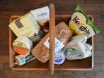 A basket of Irish artisan goodies adds a local welcome to your stay