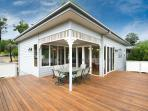 Spectacular rear deck with alfresco dining
