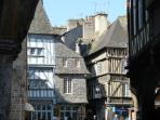 The medieval centre of Dinan is a 10 - 15 minute walk from the apartment up the steep Jerzual hill.