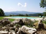 The endless view from the pool terrace....