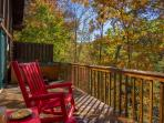 Rockers located on deck / Wooded Setting Enjoy the sounds of nature with your morning coffee !