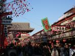 Nakamise traditional shopping streets 3min walk