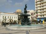Cantral square in the city of Patras