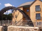 The Waterwheel Apartment located in Charlestown, Cornwall