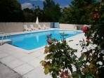 Private, enclosed and not overlooked swimming pool 10m x 5 m plus steps