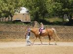 In the field below the house is possible to ride horse