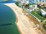 Marina Beach - Aerial View